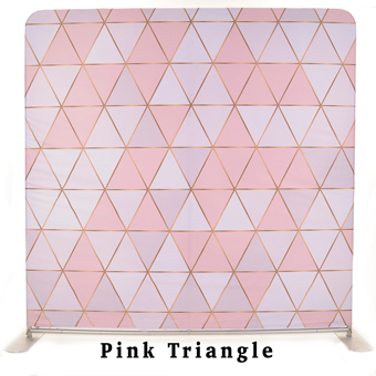 PhotoMonkey Photobooth Thunder Bay Backdrops - Pink Triangle