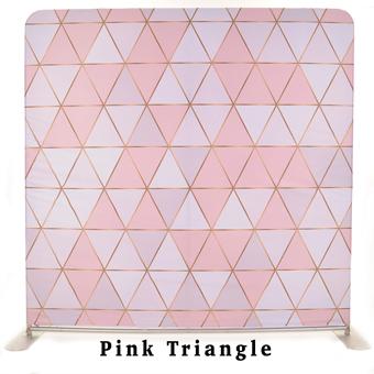 PhotoMonkey Photobooth Thunder Bay Backdrops - Pink Triangle