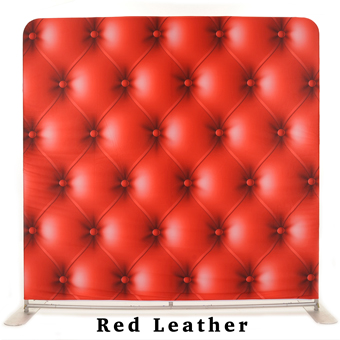 PhotoMonkey Photobooth Thunder Bay Backdrops - Red Leather