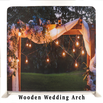PhotoMonkey Photobooth Thunder Bay Backdrops - Wooden Wedding Arch