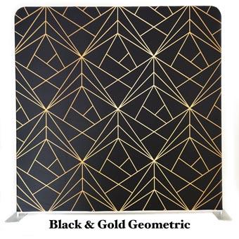 PhotoMonkey Photobooth Thunder Bay Backdrops - Black and Gold Geometric