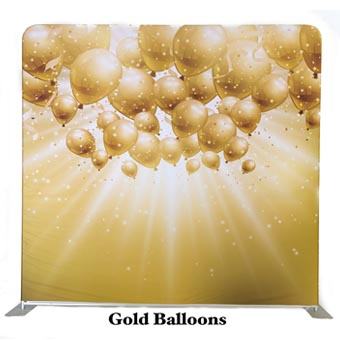 PhotoMonkey Photobooth Thunder Bay Backdrops - Gold Balloons
